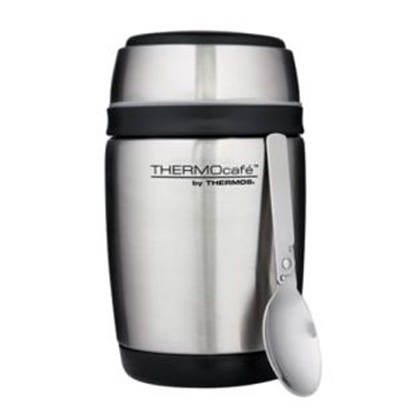Thermos Barrel Stainless Steel Food Jar With Spoon