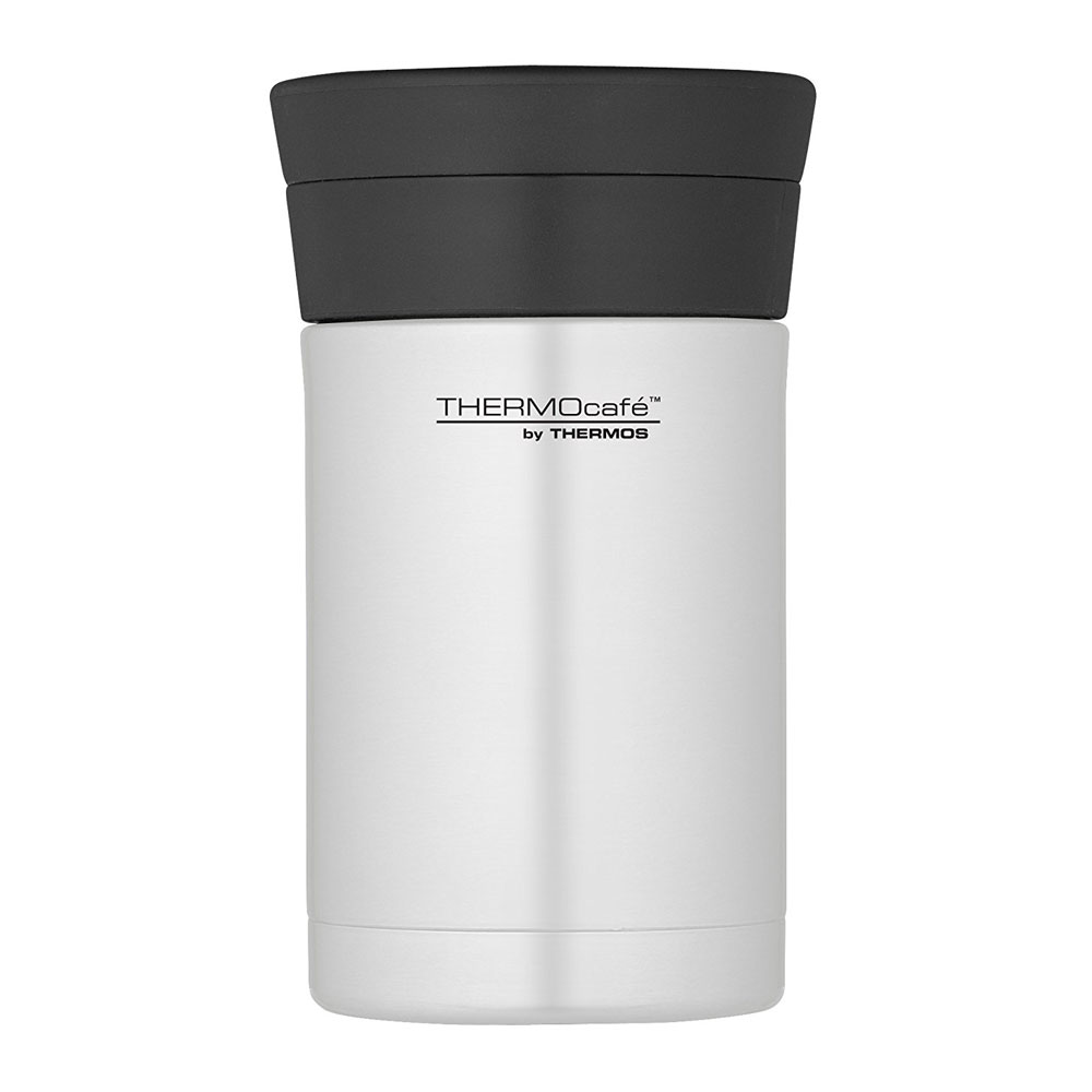 Thermos ThermoCafé Food Flask with Plastic Spoon 500ml Stainless Steel