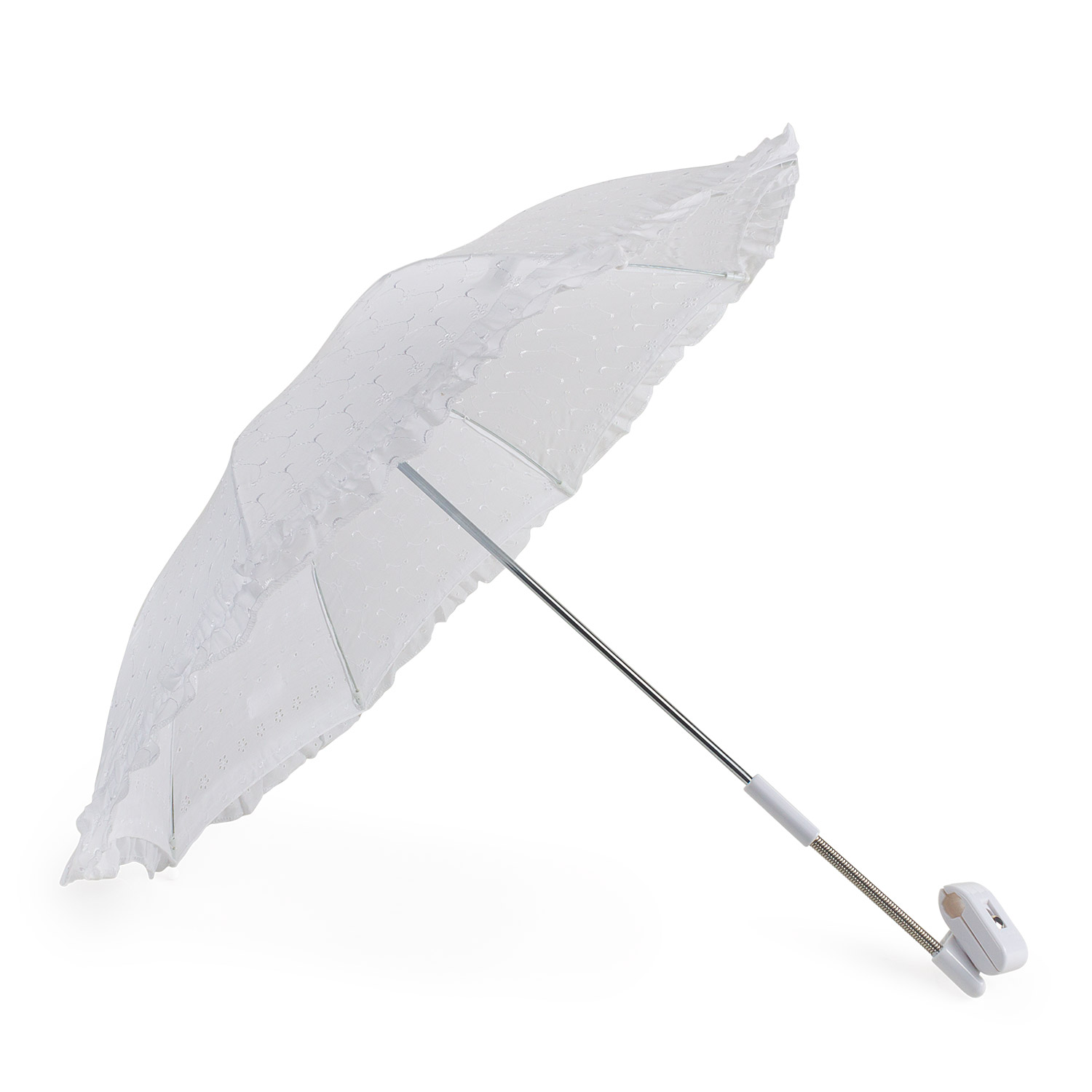 Embroidered Angle Pram Parasol