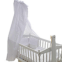 Embroidered Angle Swing Crib Set