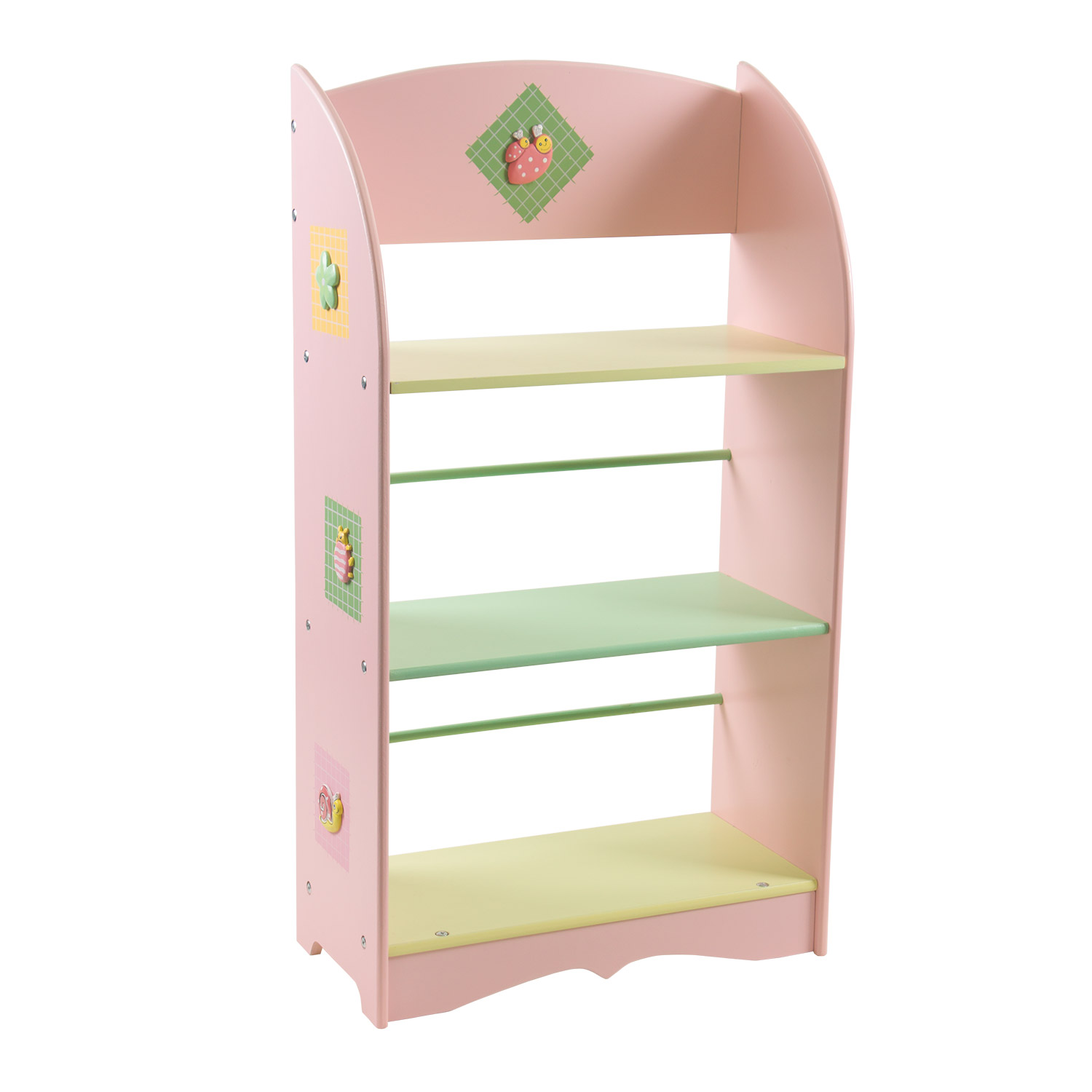 First Steps Pink 3 Stack Book Shelf