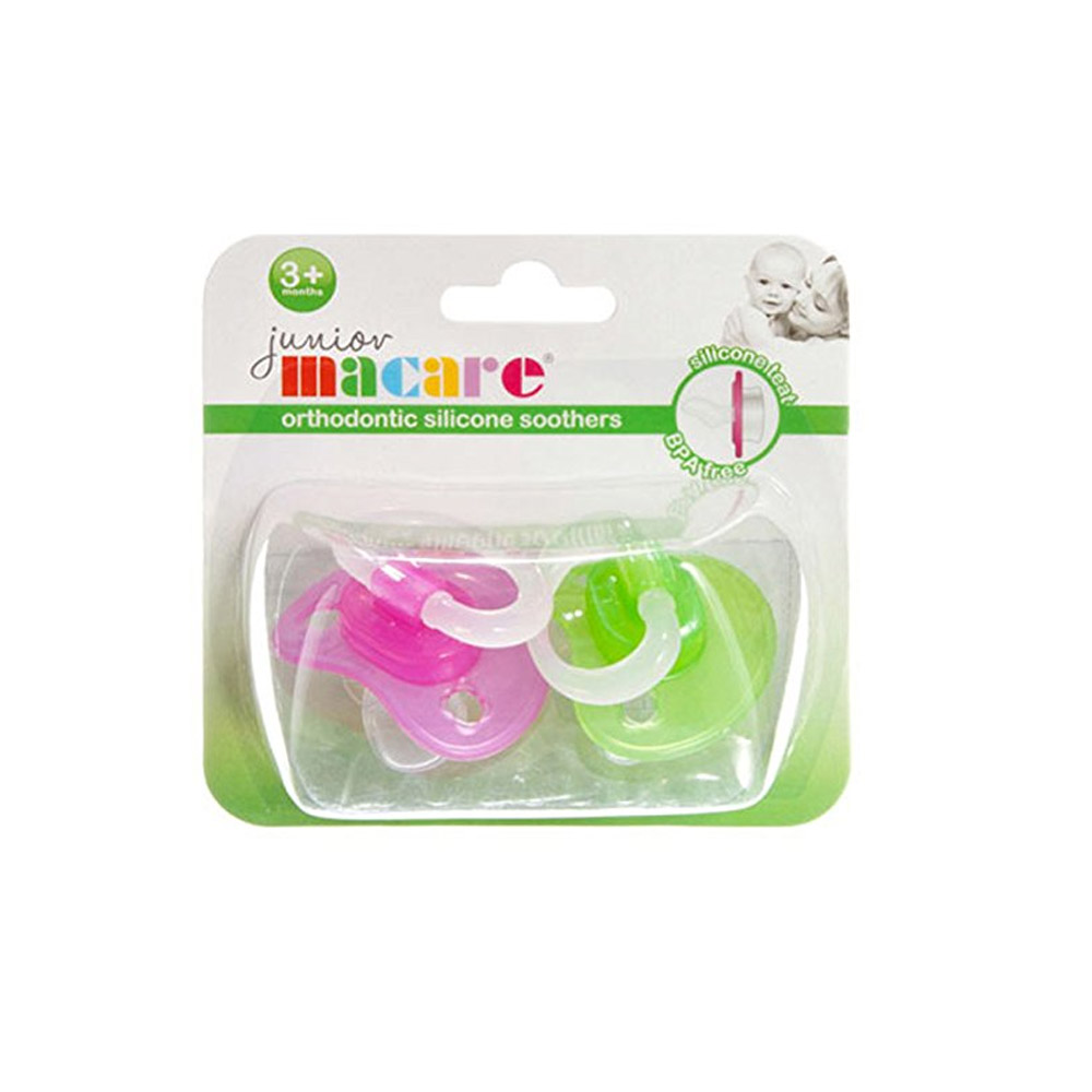 Junior Macare Orth Silicone Soothers 2 Pack