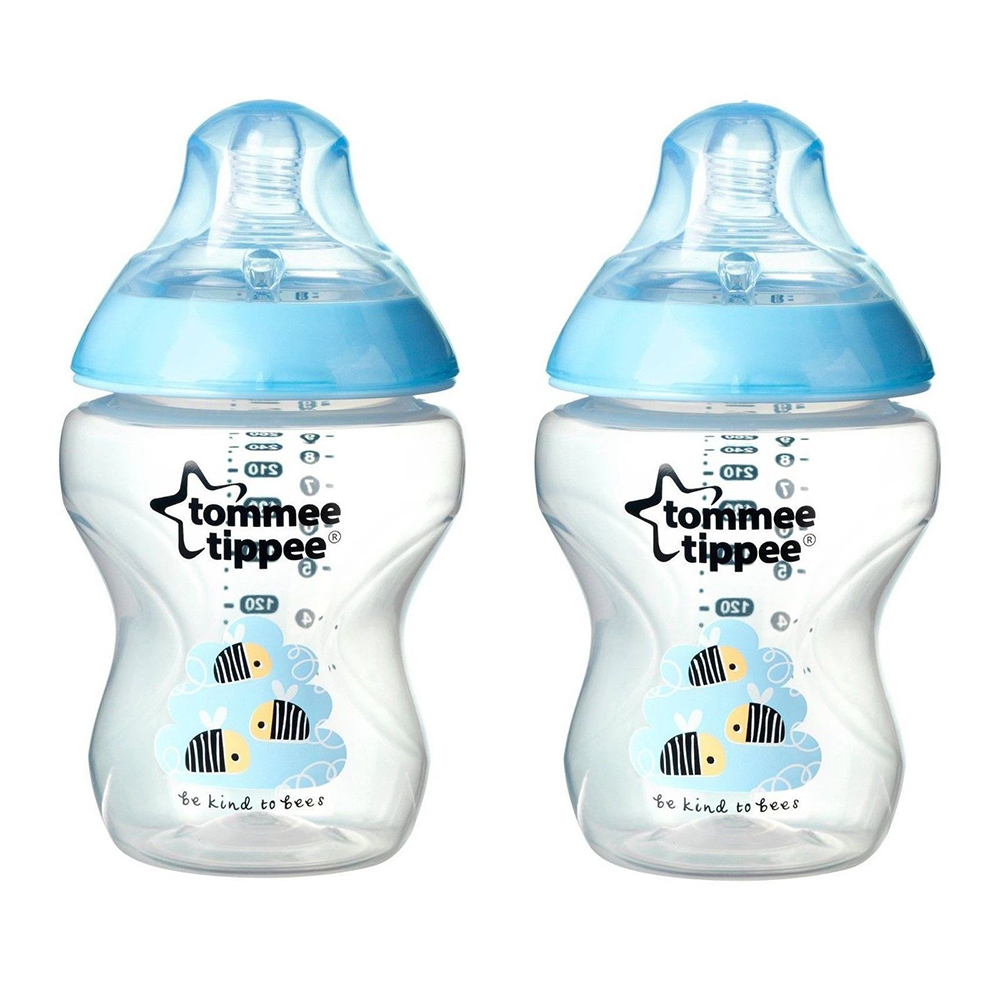 Tommee Tippee Closer to Nature 260 ml Decorated Bottles 2 Pack