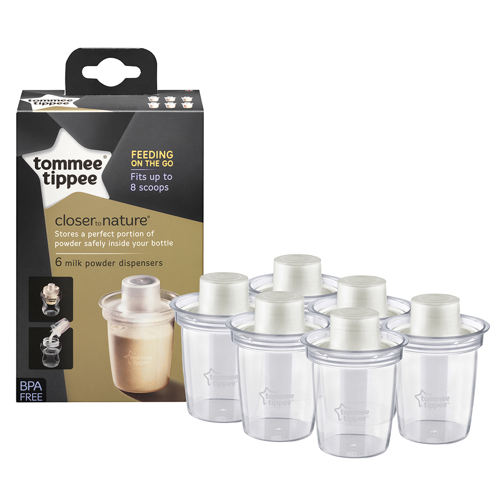 Tommee Tippee Milk Powder Dispenser - 6 Pack