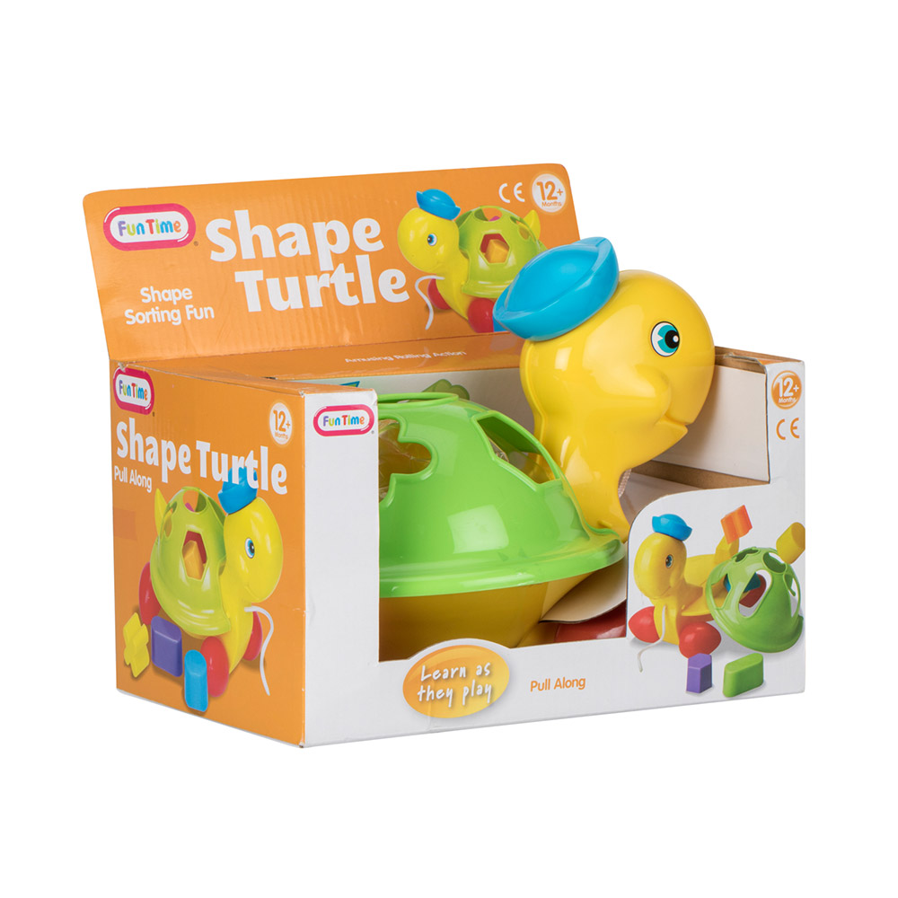Fun Time Pull Along Shape Turtle