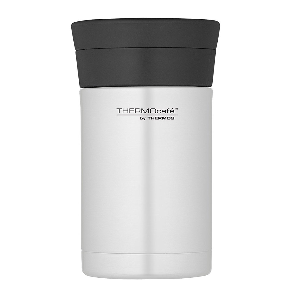 Thermos ThermoCafé Stainless Steel Food Flask with Spoon, 500 ml