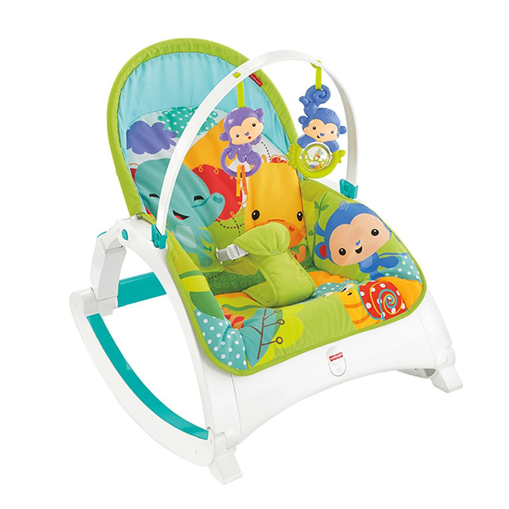 Fisher-Price Rainforest Friends Newborn-To-Toddler Portable Rocker