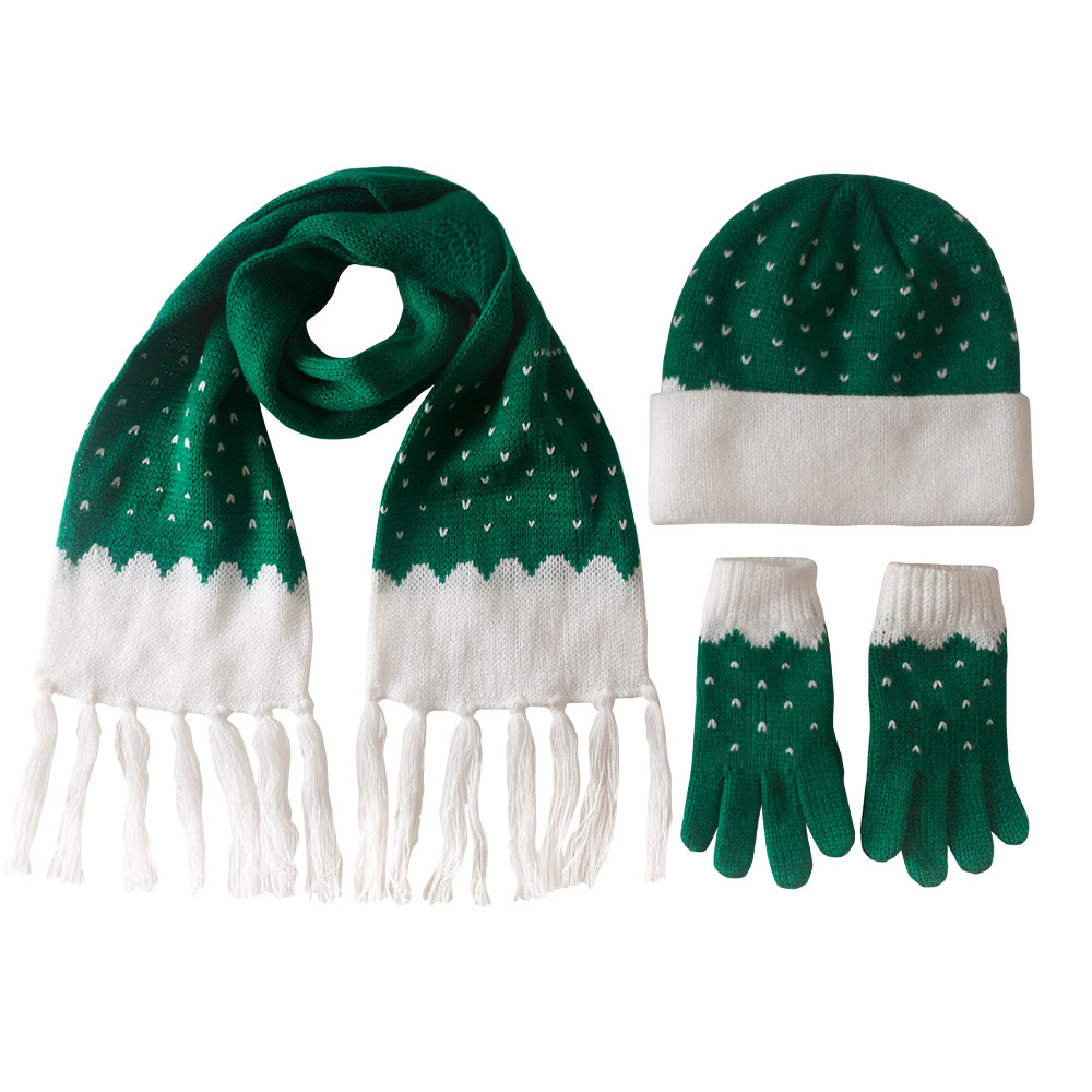 Girl's Hat, Scarf and Gloves Set