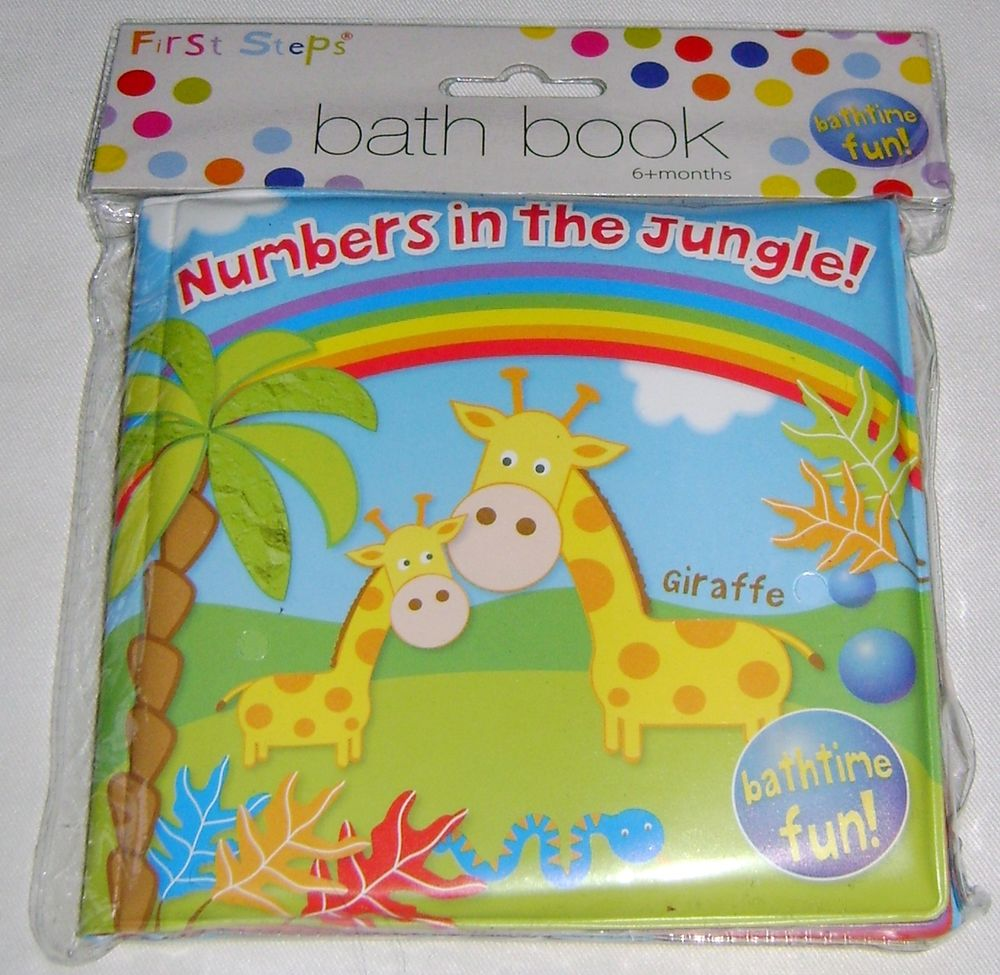 First Steps Soft Baby Bath Book