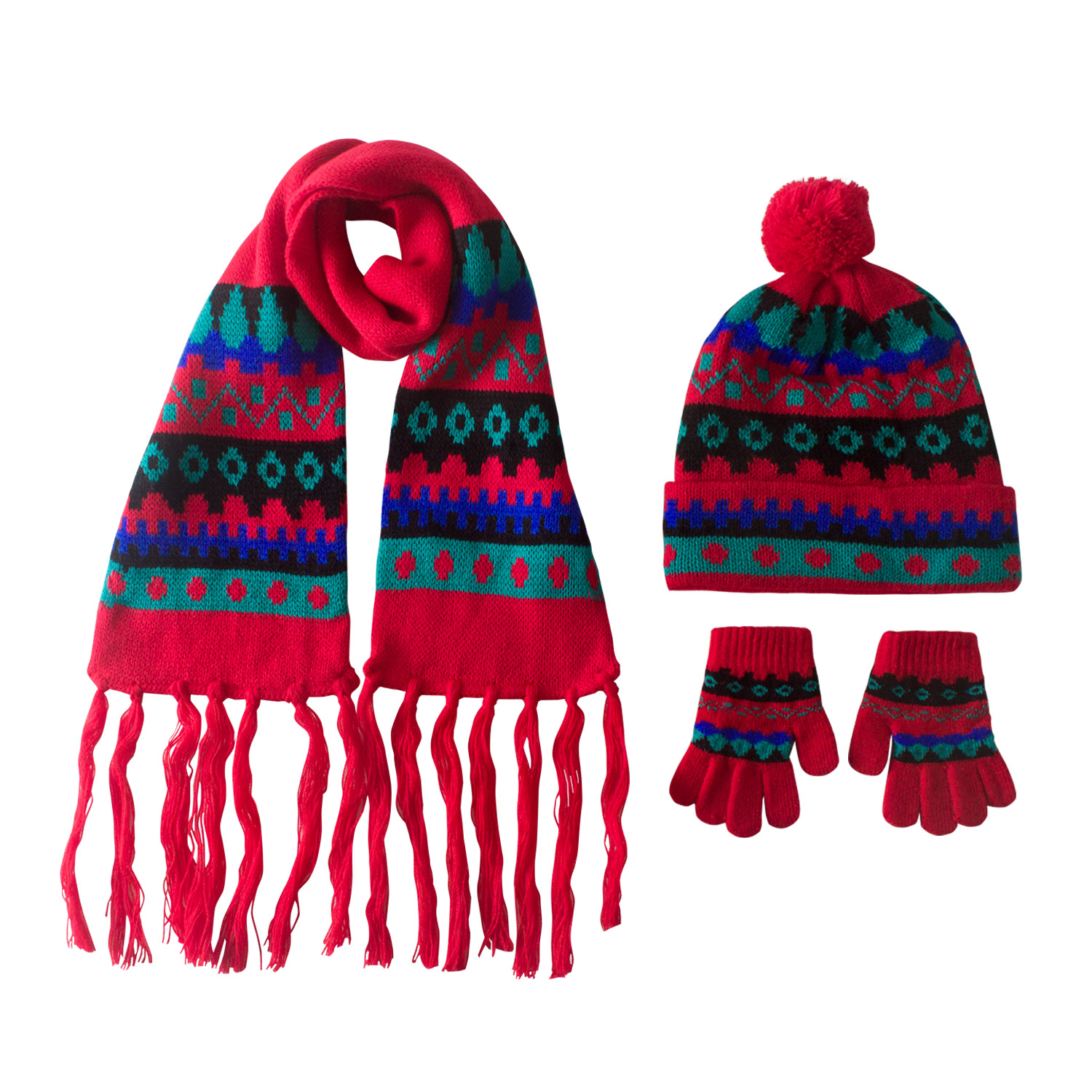 Infants Portholes Hat+Scarf+Gloves Set