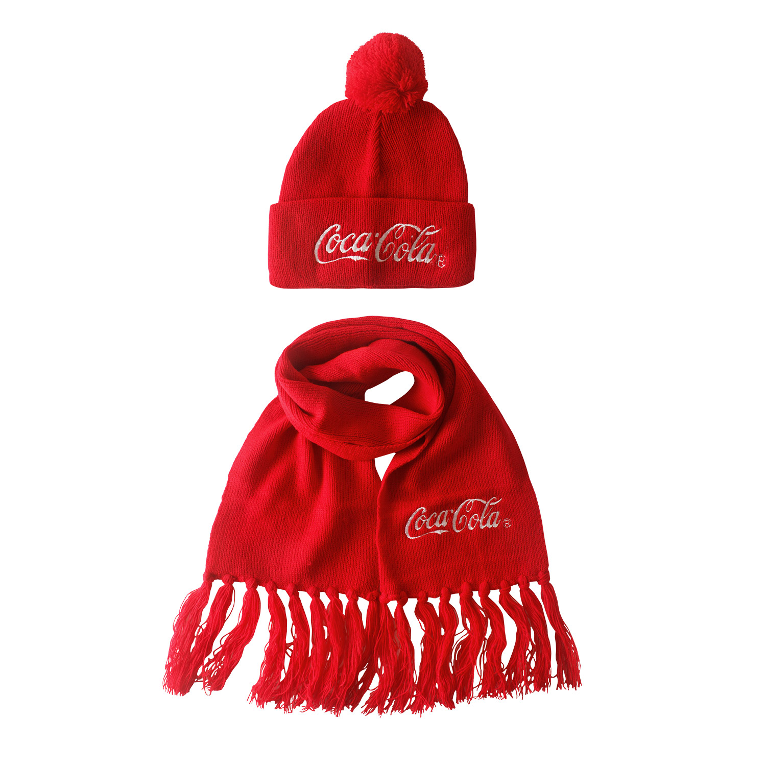 Child Coca Cola Hat and Scarf Set