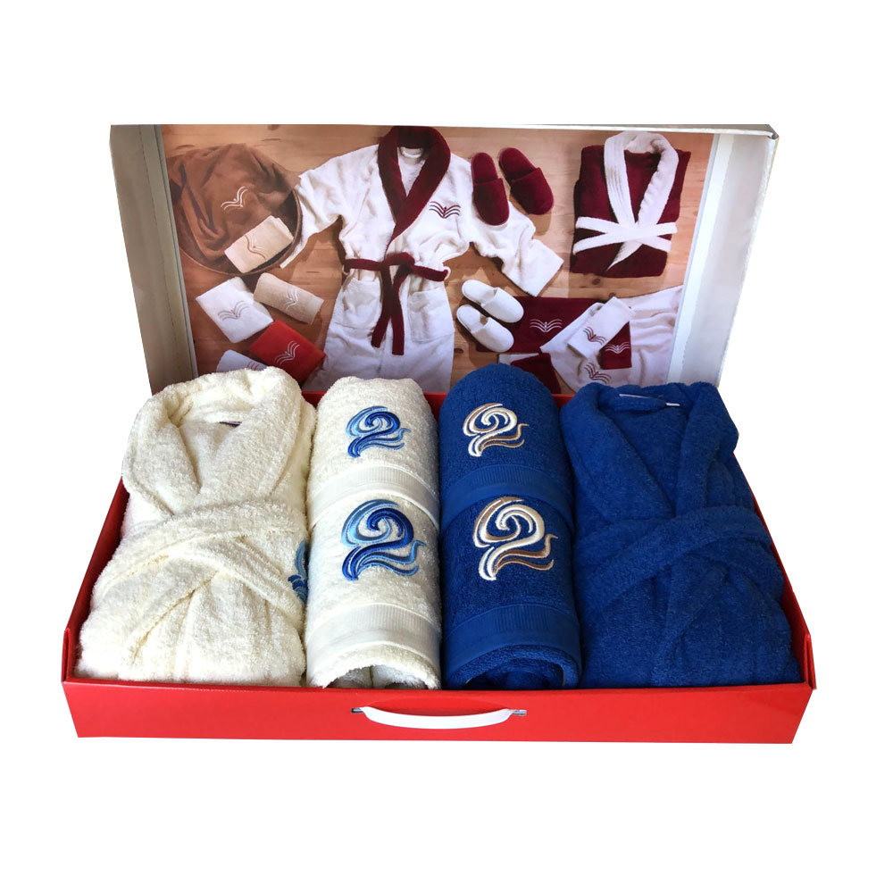 Westward Ho! 10 Piece Ocean Boxed Towel Set