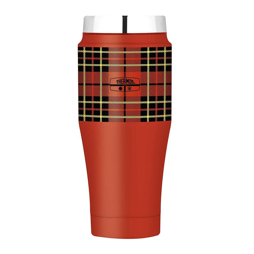Thermos Fashion Series Travel Tumbler Red Tartan, 470ml