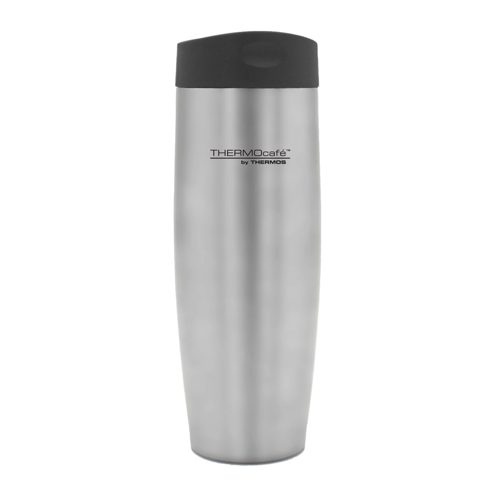 Thermos ThermoCafé Push Button Travel Tumbler 420ml Stainless Steel