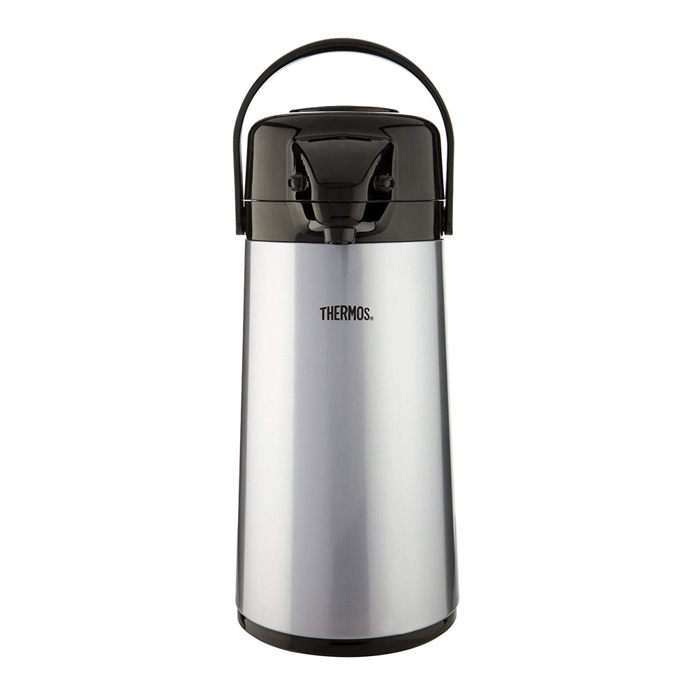 Thermos Push Button Pump Pot Stainless Steel