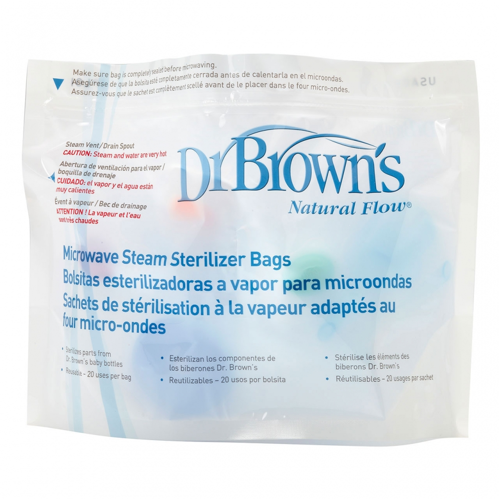 Dr Browns Options Microwave Steriliser Bags 5 Pack