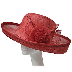 Sinnamay Ladies Hat with Classic Flower