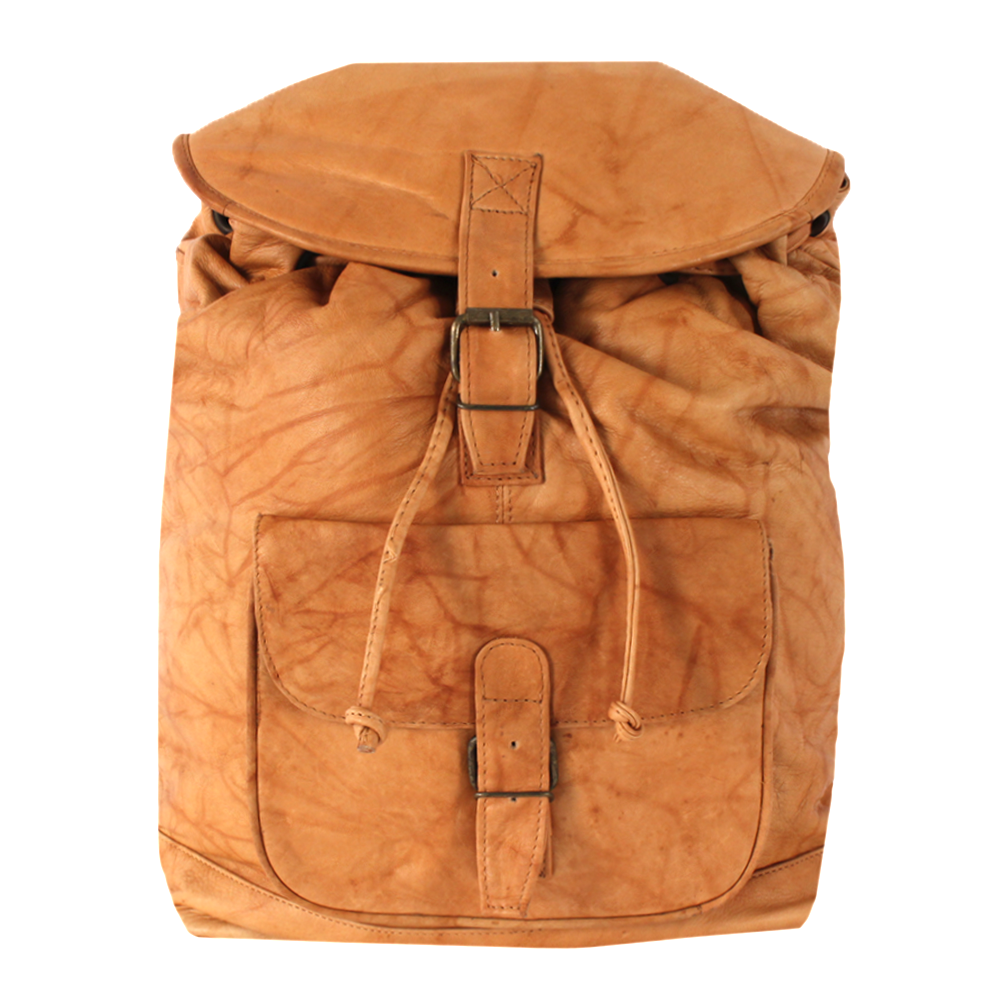Le Sabbi Waxed Leather 1 Pocket Rucksack
