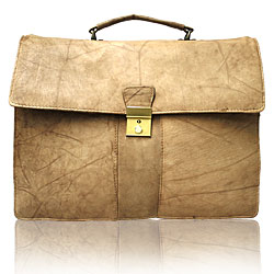Le Sabbi Waxed Leather Briefcase