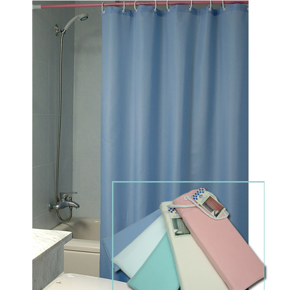 Westward Ho! Plain Textile Shower Curtain