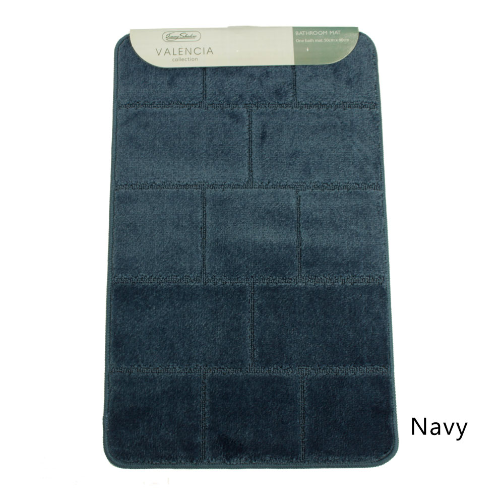 Jimmy Shadow Valencia Collection 1 Piece Bath Mat