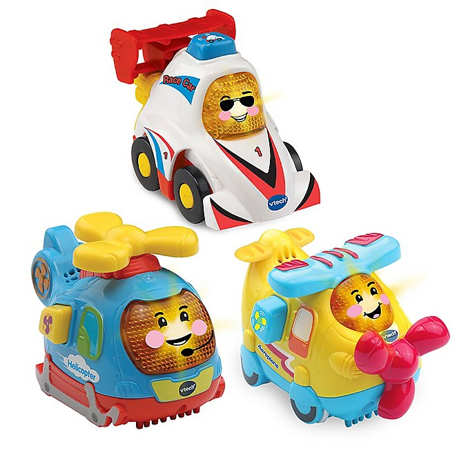 Vtech Toot-Toot Drivers® 3 Car Pack Speedy Vehicles (Helicopter, Race Car & Aeroplane)