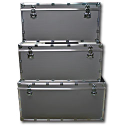Italian Aluminum 3 Piece Trunks Set