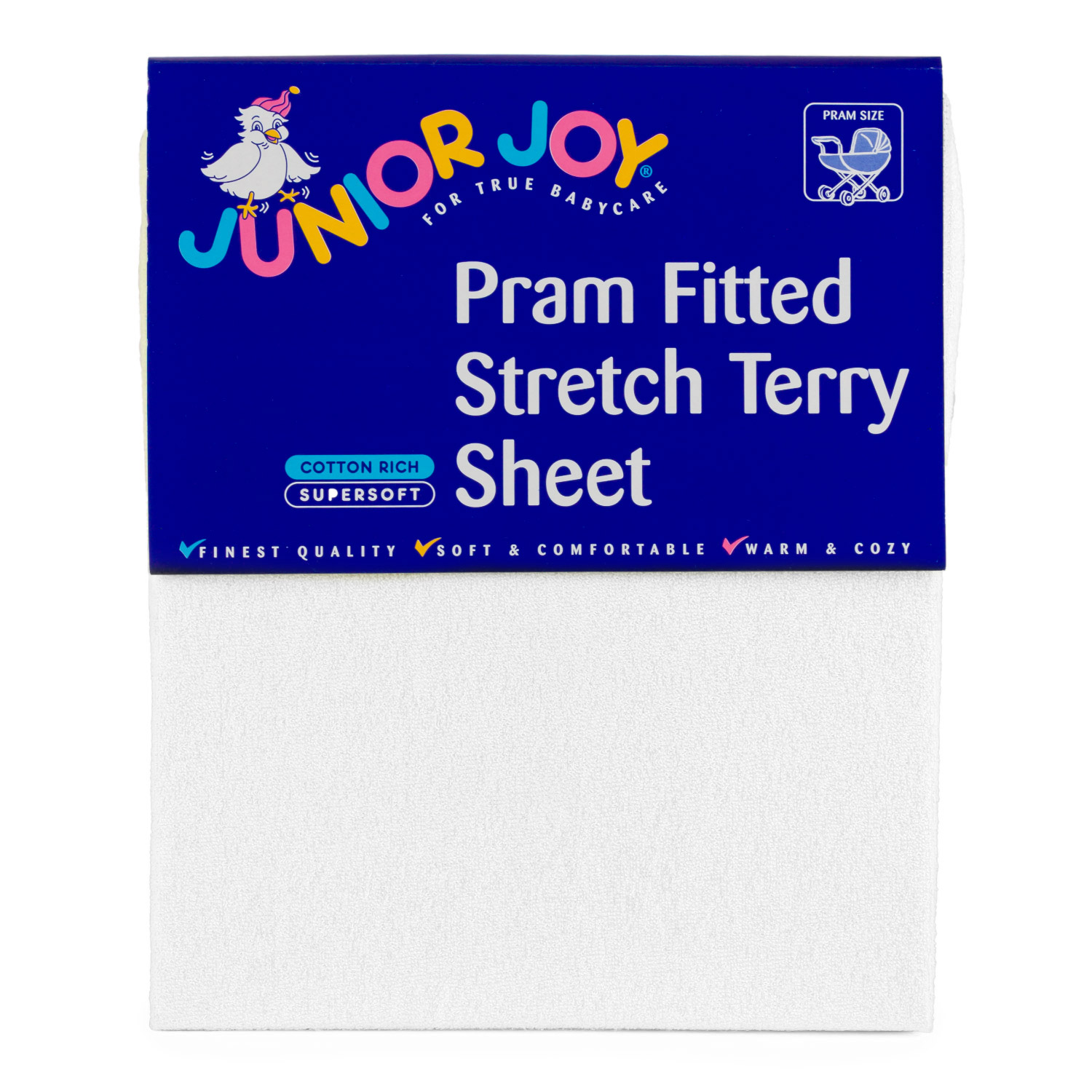 Junior Joy Pram Fitted Stretch Terry Sheet