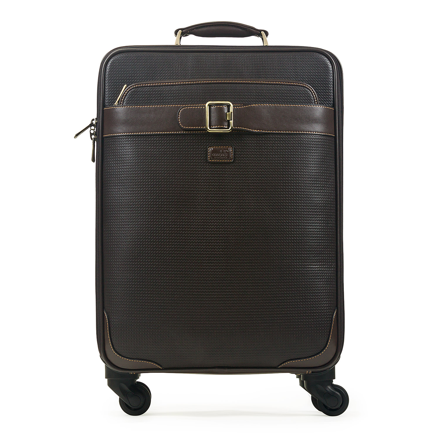 Condotti 4 Wheel Full Grain Leather Onboard Trolley Bag