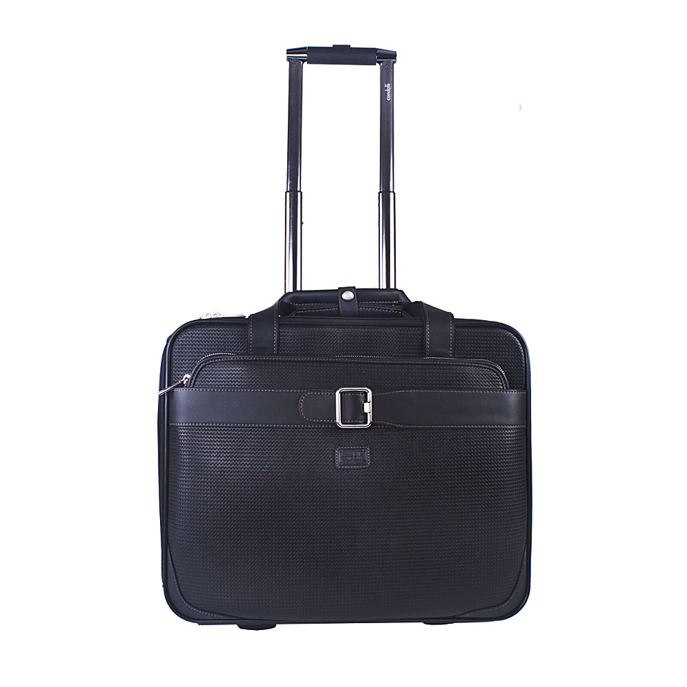 Condotti Leather Business Laptop Trolley