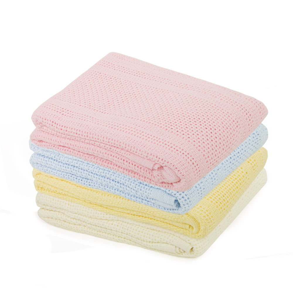 Junior Joy Pram Cotton Cellular Blanket
