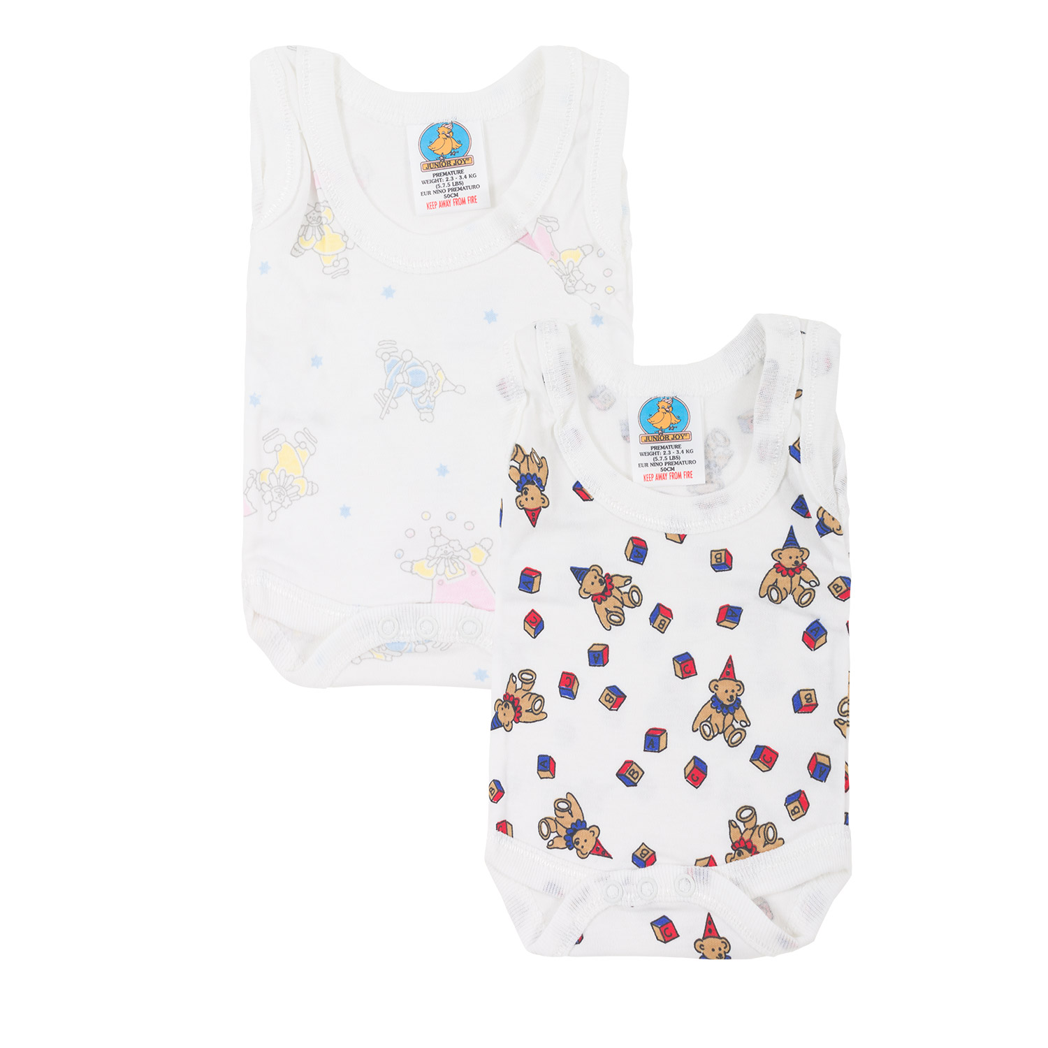 Junior Joy Vest Bodysuits - Printed