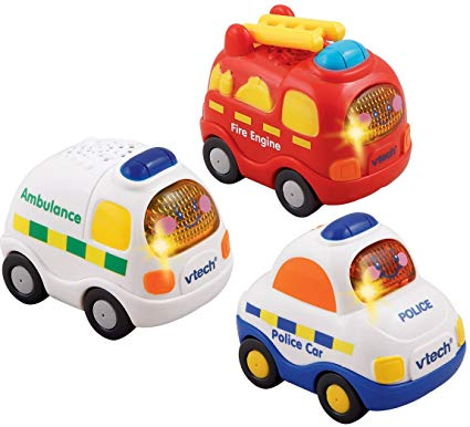 Vtech Toot-Toot Drivers® 3 Car Pack Emergency Vehicles (Fire Engine, Ambulance, Tow Truck)