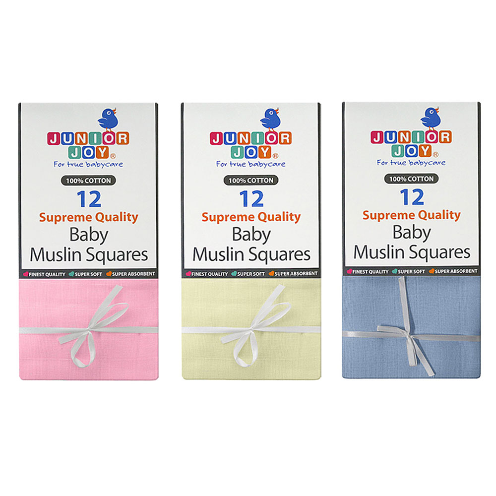 Junior Joy Baby Supreme Quality Muslin Nappies