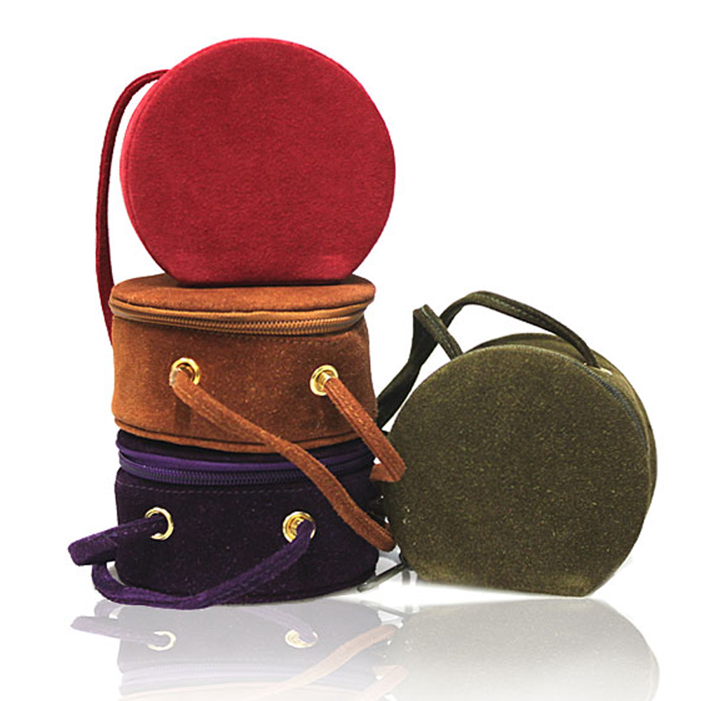 Round Suede Leather Bag