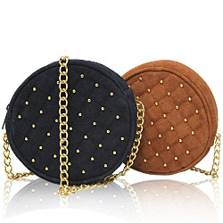 Studded Suede Leather Bag