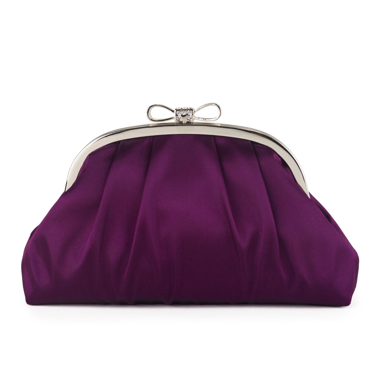 Alami - Occasion Bags Farfalla Satin Bag with Metal Bow