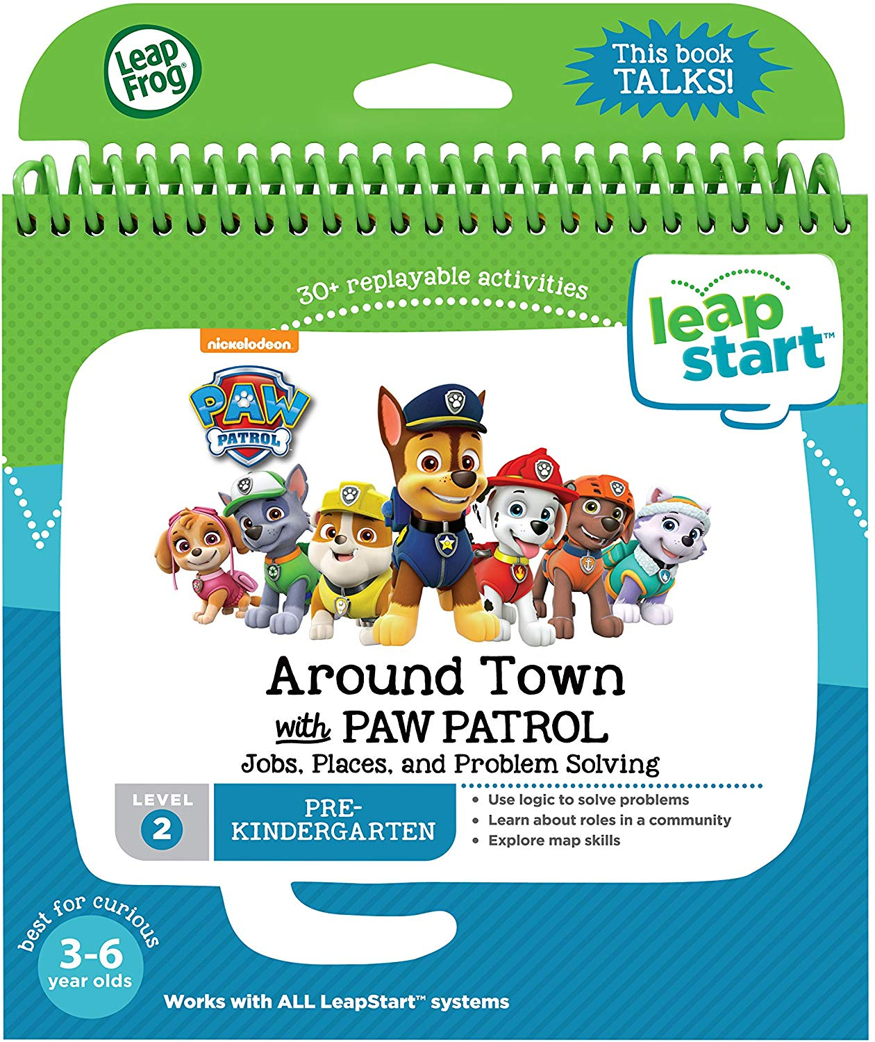Leapfrog Preschool: Around Town with Paw Patrol Activity Book (3D Enhanced)