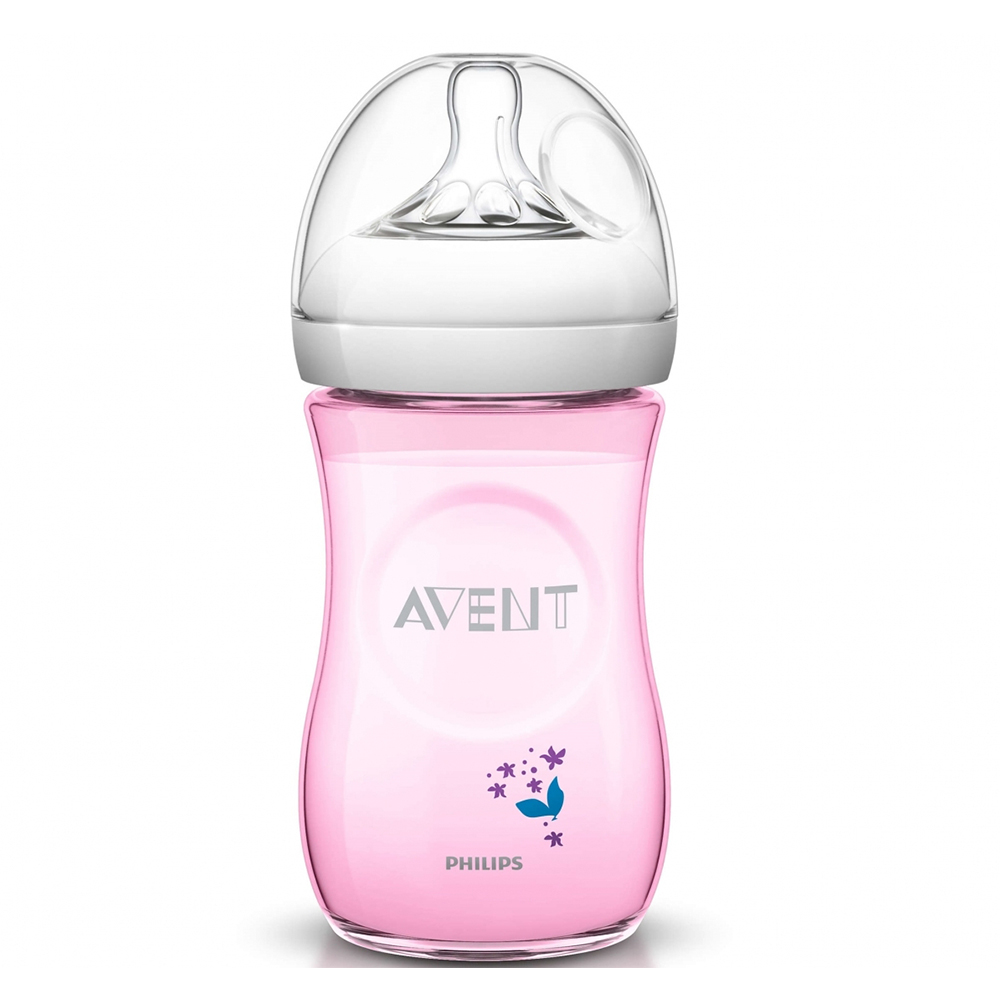 Avent Natural Decorated Bottle 260ml Single