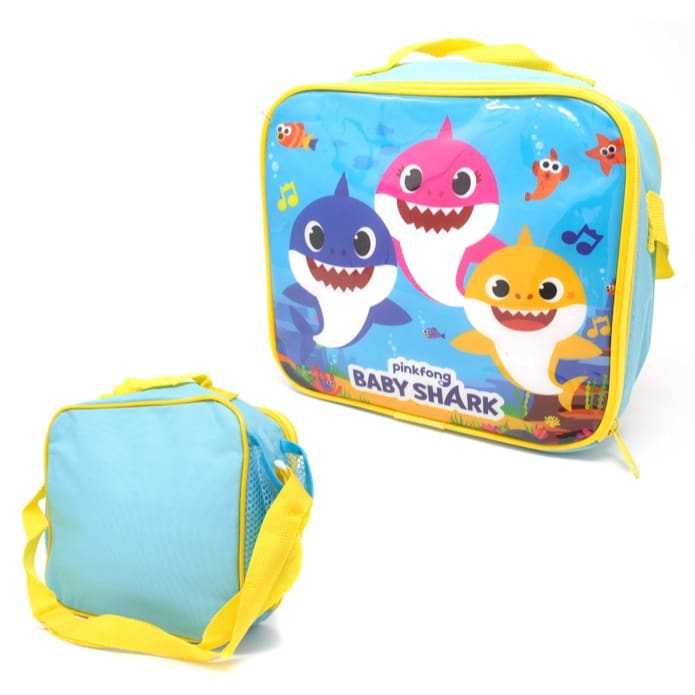 Baby Shark Lunch Bag With Side Pocket And Shoulder Strap