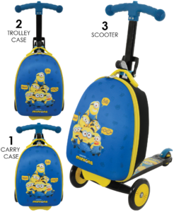 Minions 2 3-in-1 Scootin Suitcase