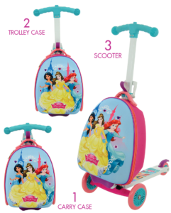 Disney Princess 3-in-1 Scootin' Suitcase