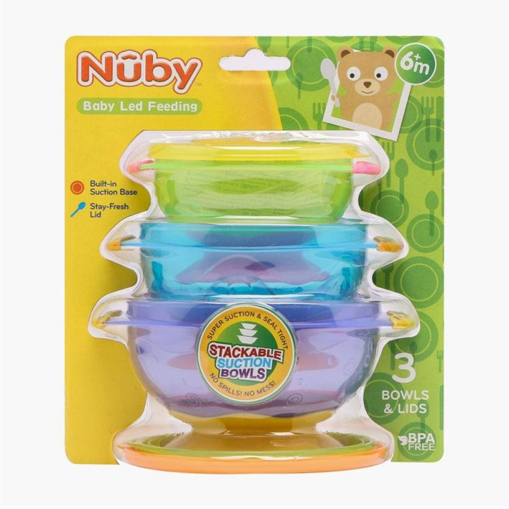 Nuby Stackable Suction Bowls