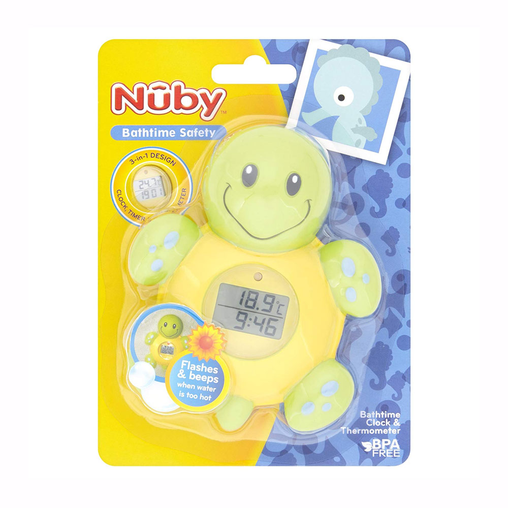 Nuby Bath Thermometer and Clock