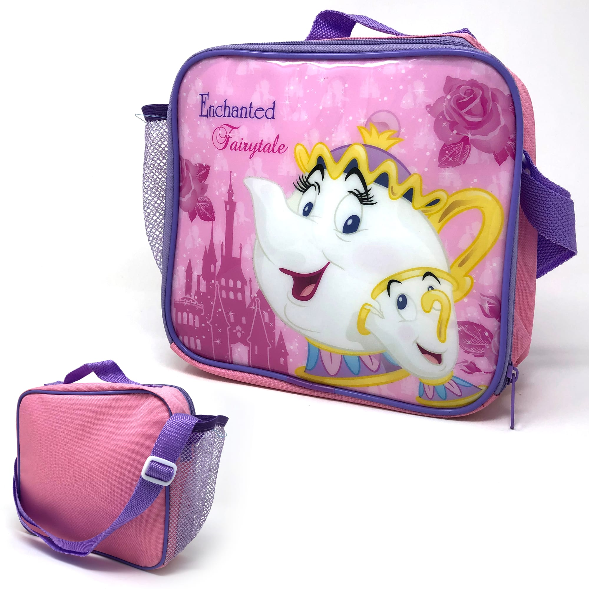 Princess Lunch Bag  With Side Pocket And Shoulder Strap - Beauty & Beast