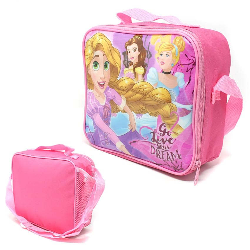 Princess Lunch Bag With Side Pocket And Shoulder Strap
