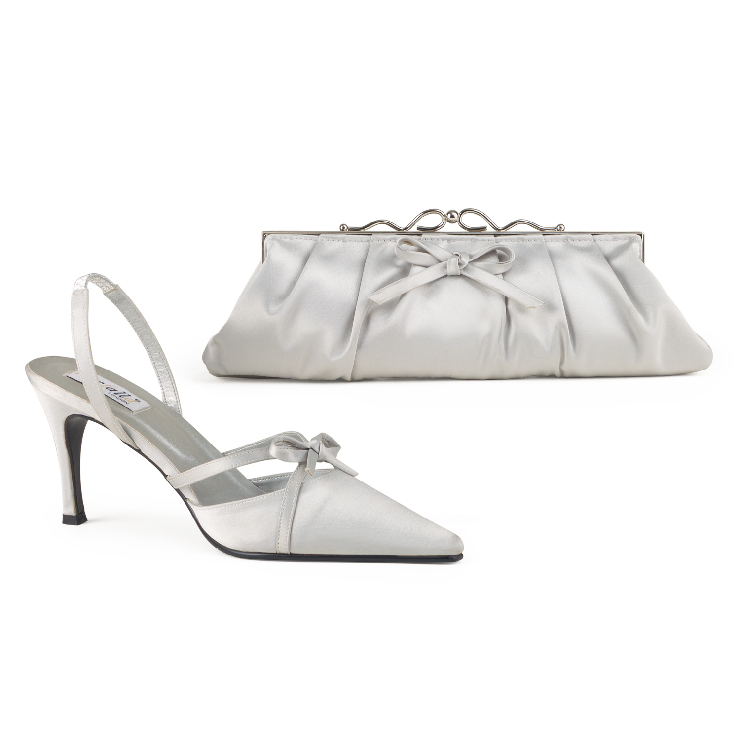 Satin Shoe With Bow