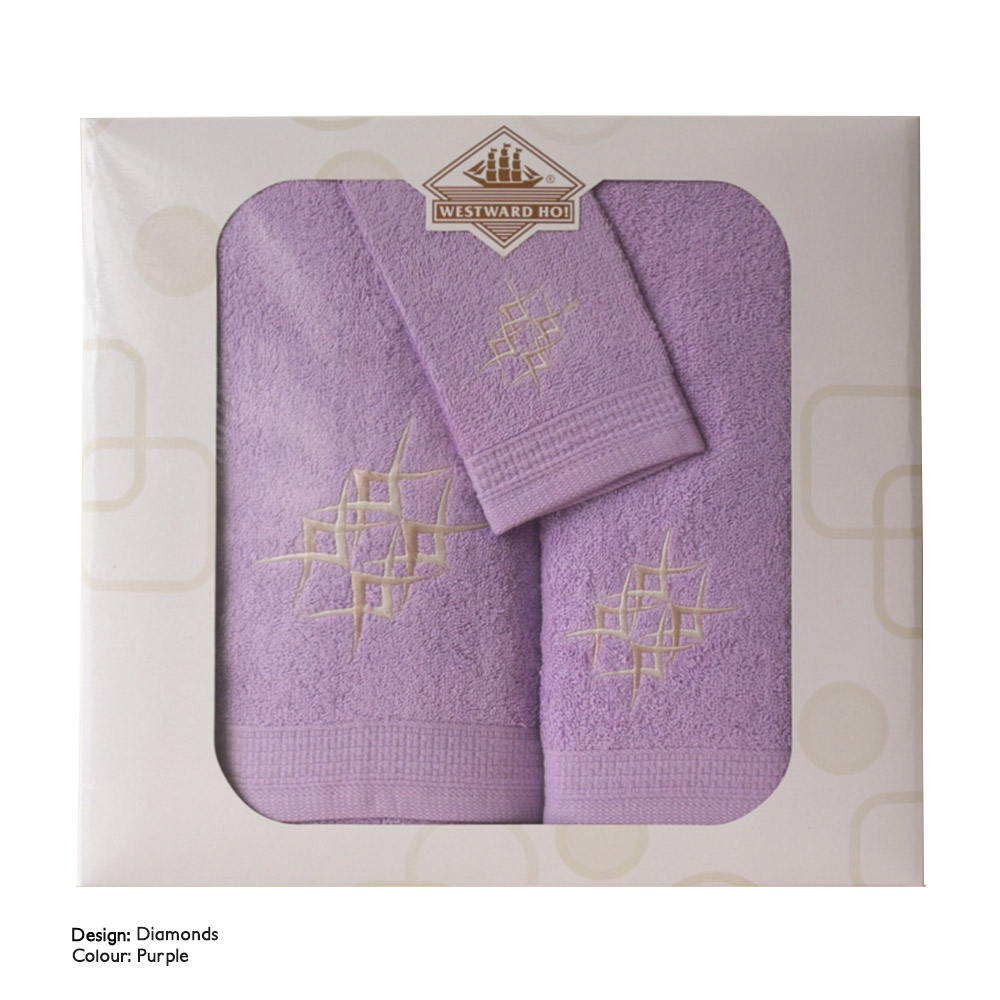 Westward Ho! 3 Piece Embroidered Towel Set