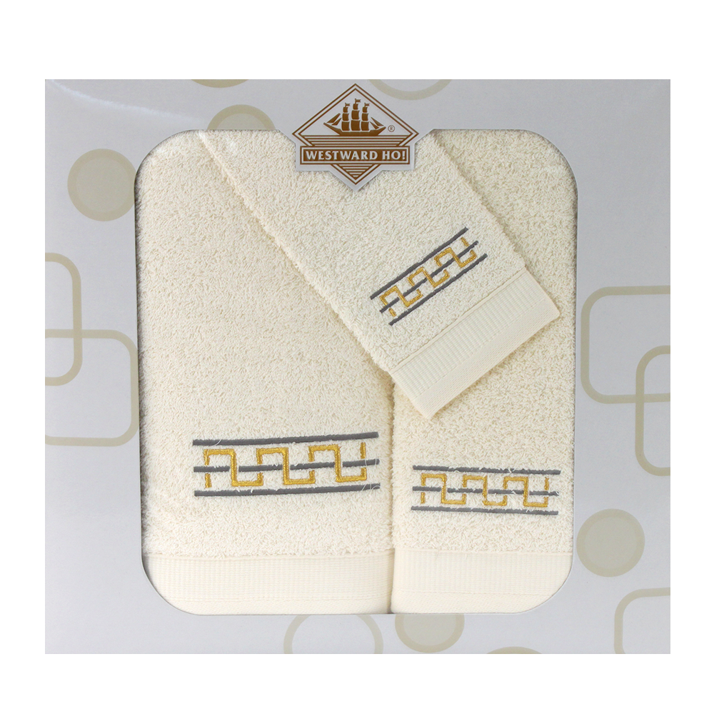 Westward Ho! 3 Piece Destino Boxed Towel Set