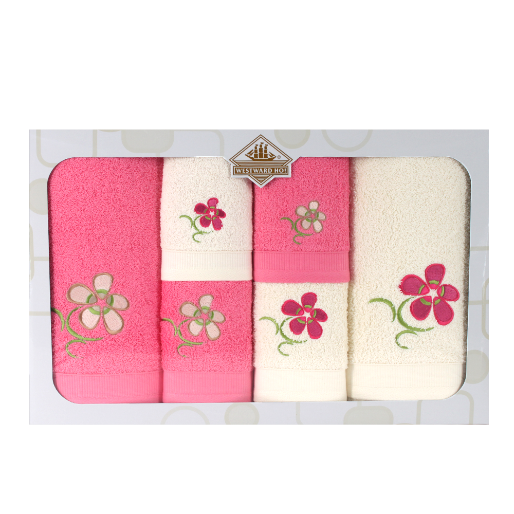 Westward Ho! 6 Piece Floral Boxed Towel Set